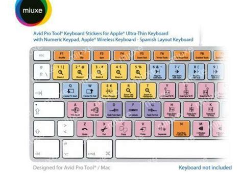 Spanish Keyboard Stickers