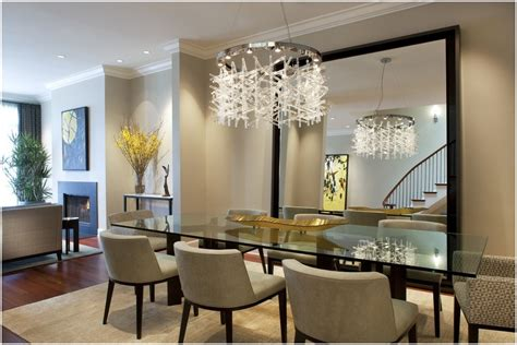 modern mirrors for luxury dining room design with