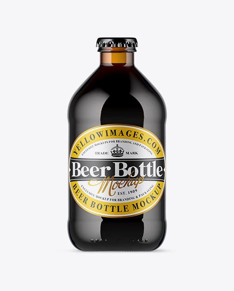 Clear glass lager beer bottle mockup 500ml. Ceramic Beer Bottle Mockup - Clear Glass Lager Beer Bottle ...