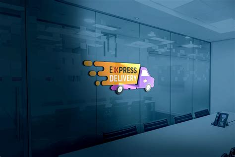express delivery logo design psd graphicsfamily
