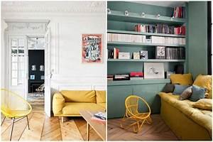 Décoration Salon Jaune Moutarde : deco jaune moutarde et bleu canard ~ Melissatoandfro.com Idées de Décoration
