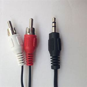 3 5mm Audio Speaker Cable Stereo Female Mini Plug To 2male