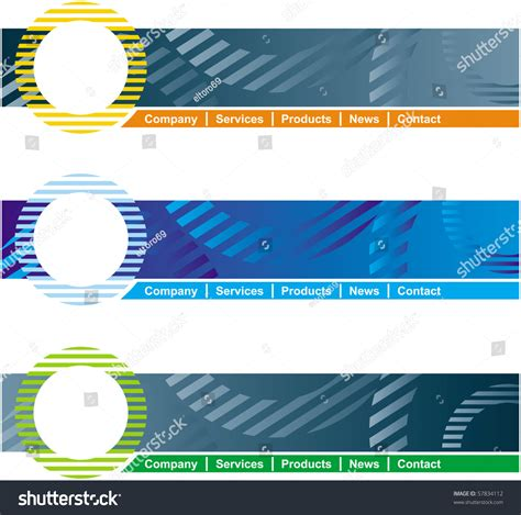 concept design web page header template stock vector