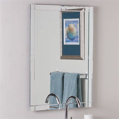 Cheap Bathroom Wall Mirrors by Decor Ssm414 Frameless Bathroom Mirror Ideas