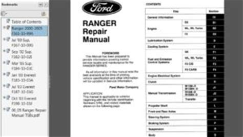 service repairs ford factory technical manual