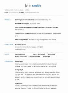 70 basic resume templates pdf doc psd free for Free simple resume templates