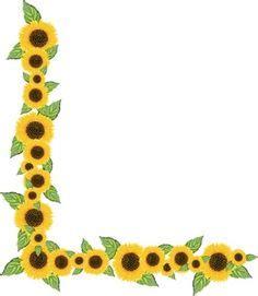 Sunflower Kitchen Ideas Beautifull Sun Flower Border Design Hd Border Designs