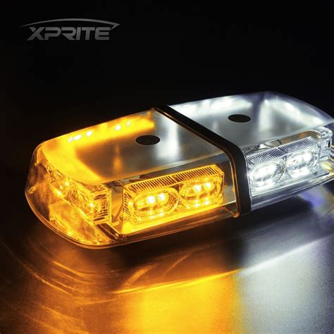 36 led oval roof top light bar emergency hazard flash
