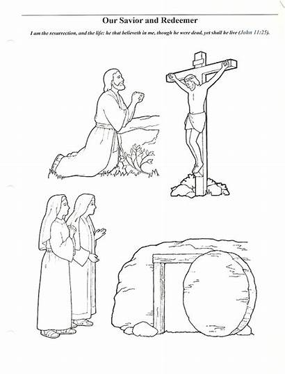 Easter Primary Coloring Lds Lesson Pages Story
