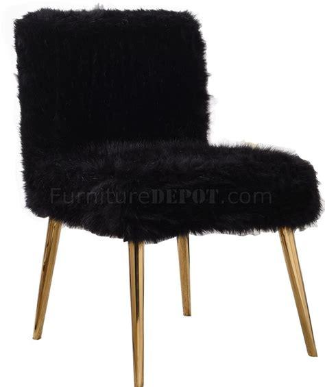 tiffany accent chair  black faux fur  meridian