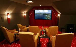 Beauteous Home Movie Theater Rooms With Arranged Comfy Arm ...