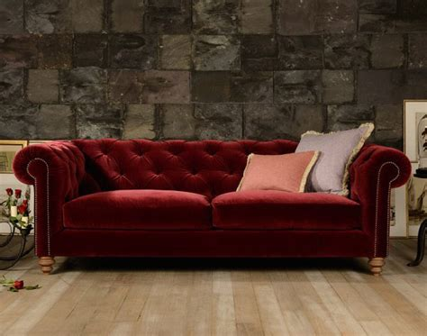 canapé chesterfield en velours canapé chesterfield coniston en tissu velours longfield 1880