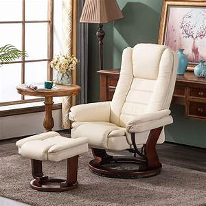 Mcombo, Stressless, Recliner, With, Ottoman, Chair, Accent, Recliner, Chair, With, Vibration, Massage, 360