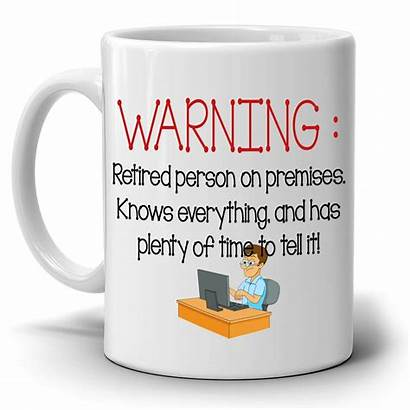 Retirement Mug Gifts Gag Funny Retired Humorous