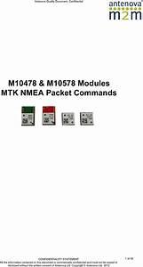 M10478 M10578 Nmea Packet Manual