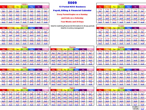 13 Month Calendar Template 13 month calendar template calendar 2018 printable