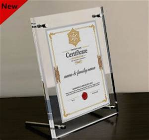 china a4 clear acrylic certificate frame china a4 clear With clear document frame