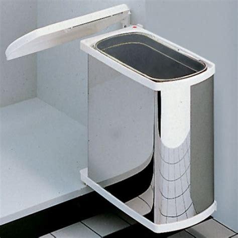 Kitchen Bin Inside Cupboard Door by Hailo Uno Swing Out Kitchen Bin 18l Stainless Steel