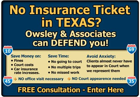 Texas No Insurance Ticket Attorney/lawyer