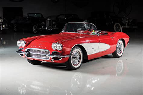 Wallpaper Chevrolet 1961 Corvette 283-270 Hp Cabriolet Red
