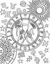 Zodiac Coloring Gemini Pages Sign Signs Printable Adult Mandala Para Star Colorear Signos Colouring Colors Aries Sheets Supercoloring Mandalas Adults sketch template