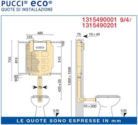 Cassetta Scarico Wc Incasso Pucci by Cassetta Wc Da Incasso Pucci Eco 2 Pulsanti 9 4 Litri