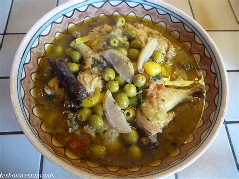poulet aux citrons confits cuisine tajine de poulet aux citrons confits les bons restaurants