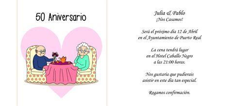 anniversaire de mariage noces d or invitation 50 ans de mariage texte dans texte invitation