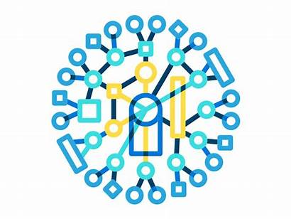 Data Dribbble Visualization Illustration Icon Created Cloudera