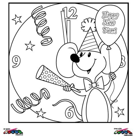 year printable coloring pages