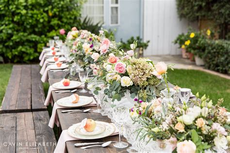 Outdoor Bridal Shower in San Diego Apple Themed Shower
