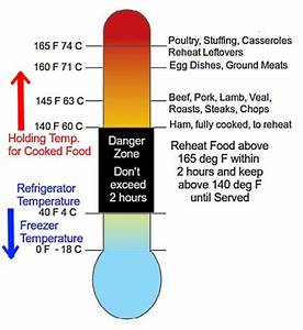 Danger Zone Food Safety Temperature Charts Cook  Reheat