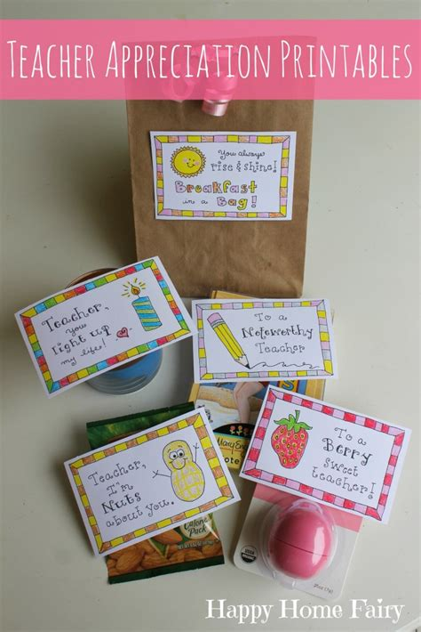 simple teacher appreciation gifts  printables