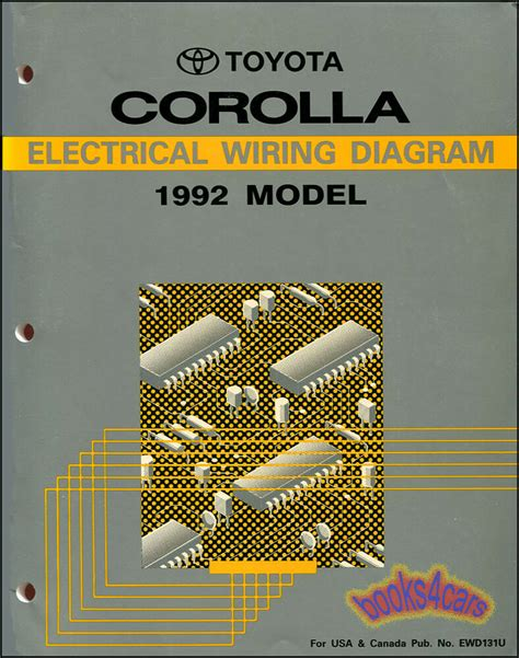 Toyotum Corolla Electrical Wiring by Shop Manual Service Repair Corolla Electrical Wiring