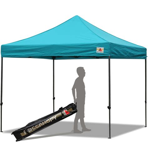 10x10 pop up canopy abccanopy 10x10 deluxe turquoise pop up canopy with roller