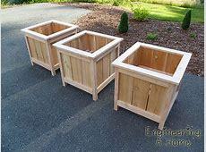 Plans For A Cedar Planter Box Plans DIY Free Download diy