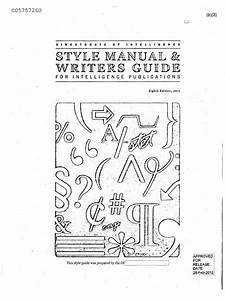 Directorate Of Intelligence Style Manual  U0026 Writers Guide
