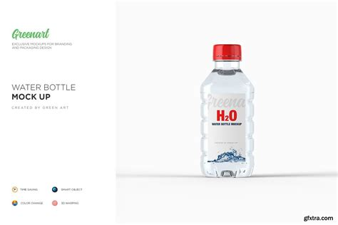 Change its design according to your needs. CreativeMarket - Plastic PET Bottle w Water Mockup 2738359 ...