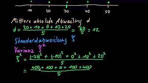 Streuungsmaße Berechnen : streuungsma e varianz und standardabweichung youtube ~ Themetempest.com Abrechnung