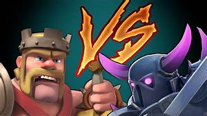 Clash Of Clans PEKKA vs KING (DUEL to the DEATH) - YouTube