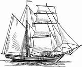 Ship Clipper Drawing Sailing Drawings Ships Coloring Paintingvalley Pages Clip sketch template