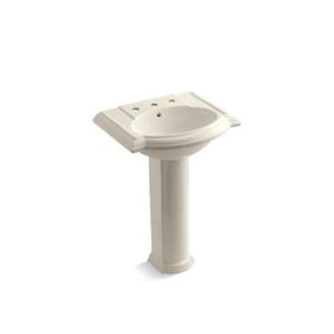 kohler devonshire pedestal combo bathroom sink in almond k