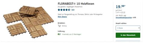 Florabest Holzfliesen Als Lidlangebot Ab 2322017