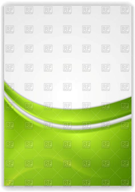 abstract green wavy background flyer template