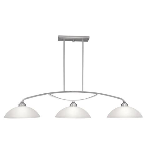 brushed nickel kitchen island lighting livex lighting providence 3 light brushed nickel 7969
