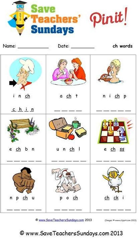 Ch Phonics Worksheet (unscramble The Letters) Httpwwwsaveteacherssundayscomphonicsyear