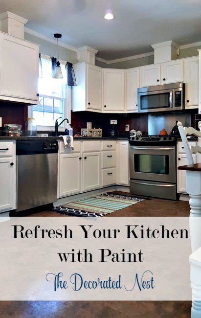 how to refresh kitchen cabinets refresh your kitchen with paint www thedecoratednest 8862