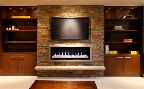 modern electric fireplace family room modern  ribbon