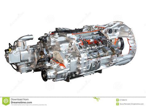 Heavy Truck Transmission Gears Stock Photo