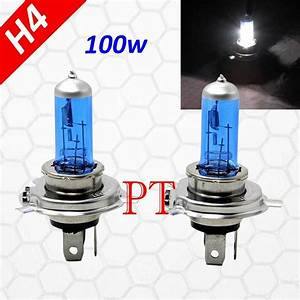 H4 9003 Hb2 100w Halogen Xenon Headlight Light Bulbs Super White High  Low Beam